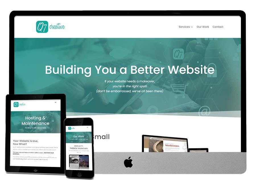 Q7 Creative AFTER Website Makeover
