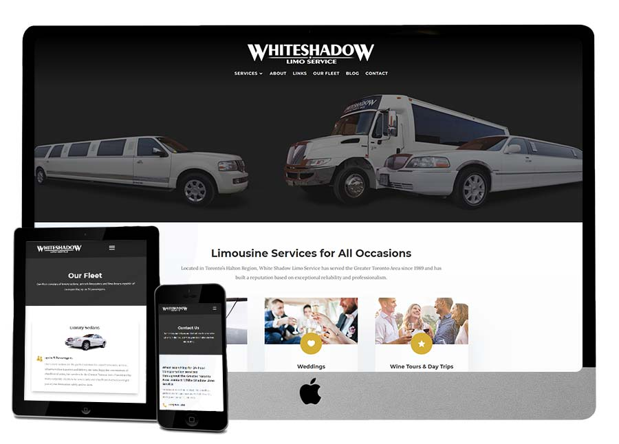 White Shadow Limo AFTER Website Makeover