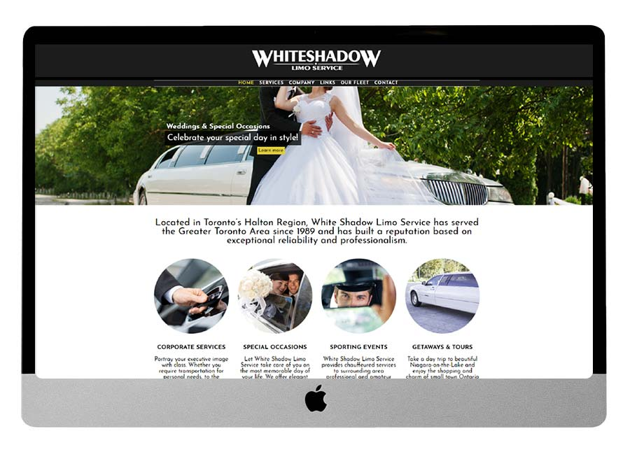 White Shadow Limo Website Makeover
