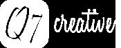 Q7 Creative Logo in White