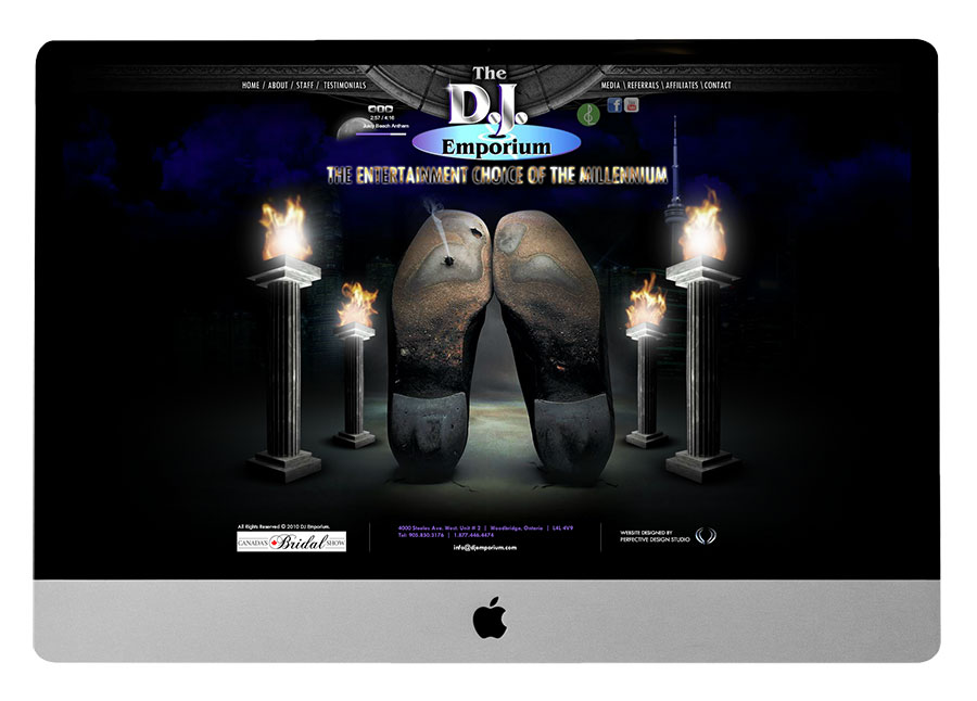 DJ Emporium BEFORE Website Makeover